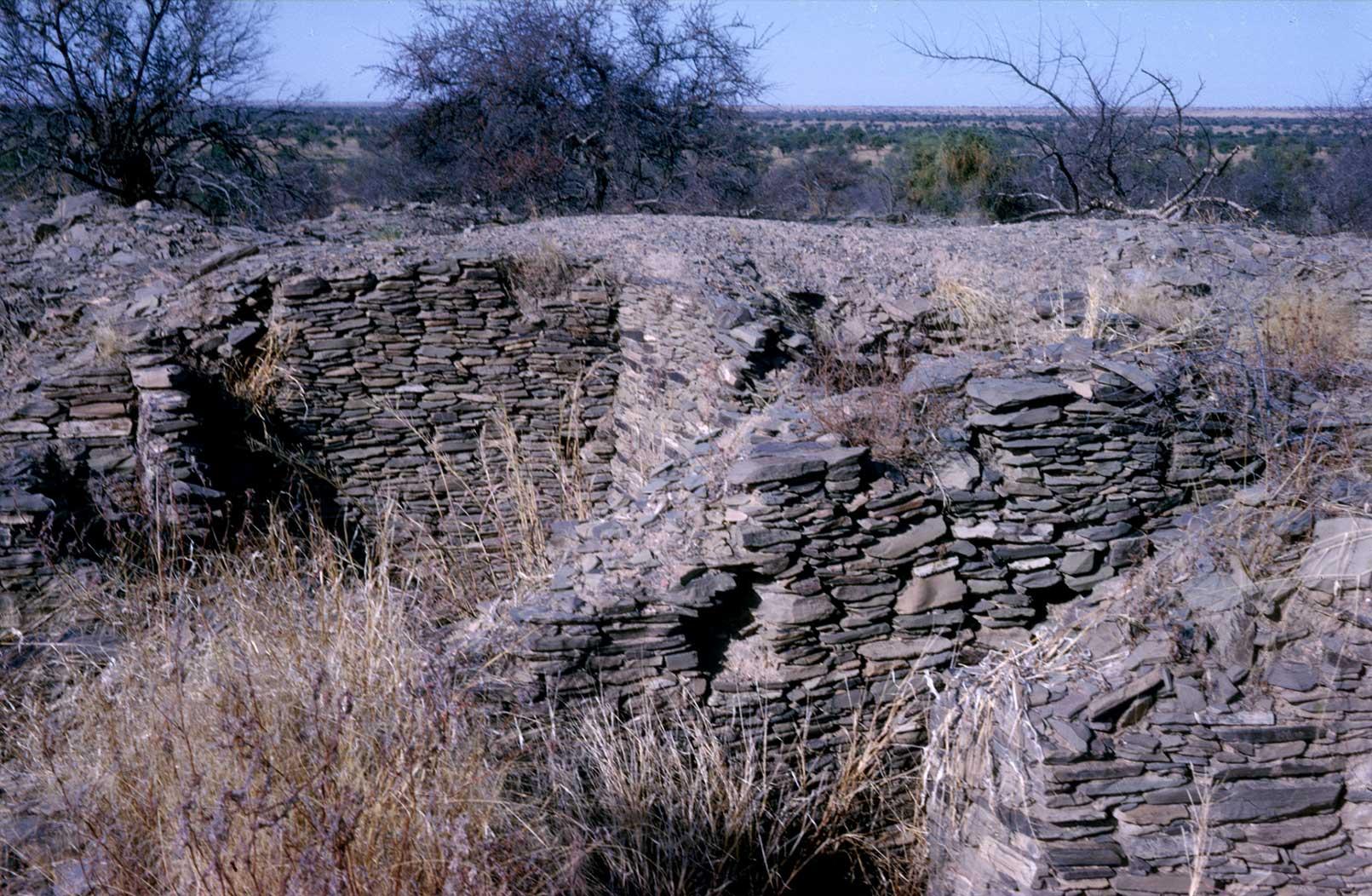 Les murs de Koumbi Saleh (Mauritanie)
