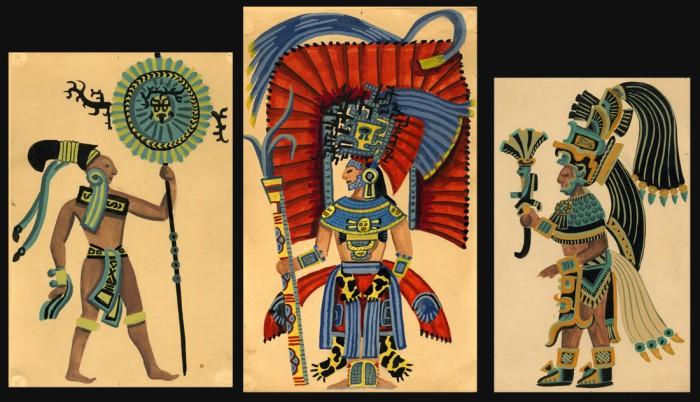 Mayas. Gouaches Alain Gallay