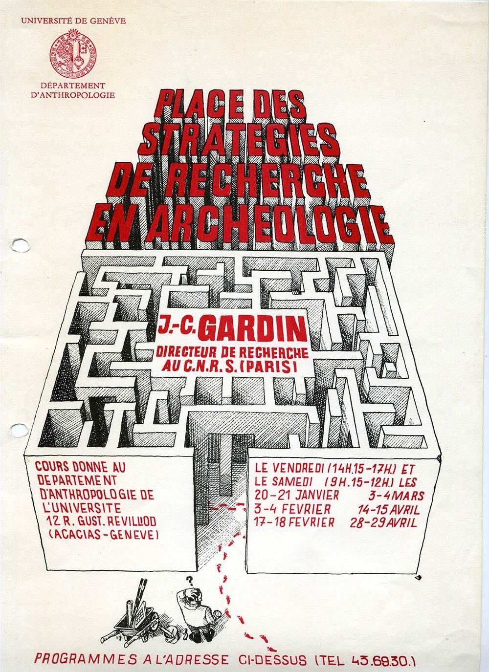 L'affiche du cours de Genève 1977-78