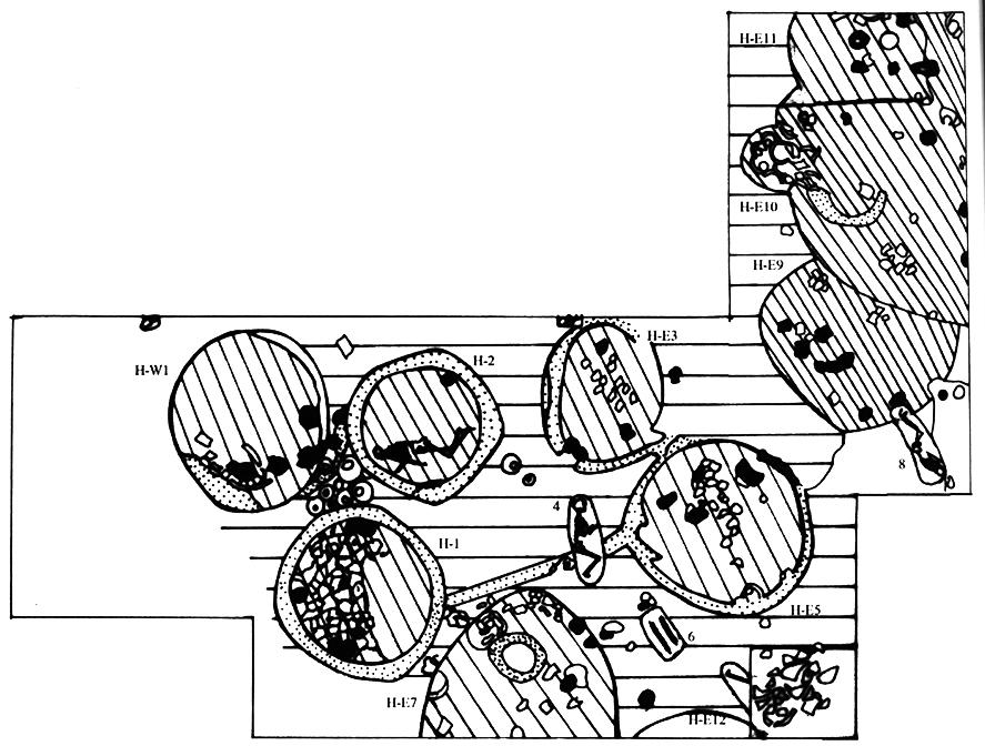Fig. 1. Une architecture de huttes circulaires.