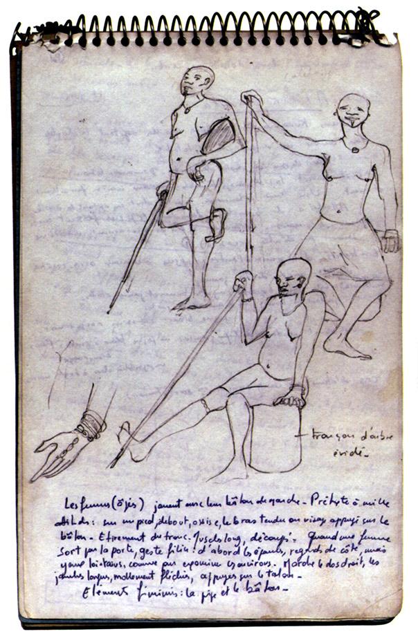 Fig. 7. Une page du carnet de croquis de Dominique Sewane. D'après Sewane 2004, p.28