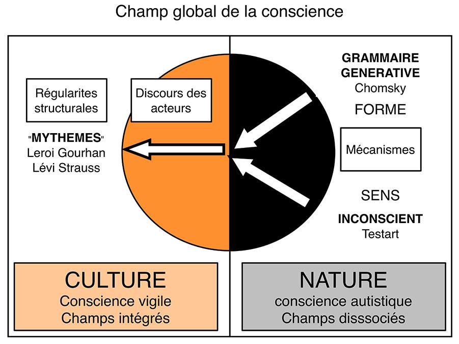 Fig. 8. Relations entre conscience vigile et conscience autistique (schéma Alain Gallay).