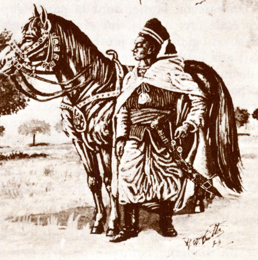 Lat Dior (1842-1886) dans sa tenue de général de l'armée du Cayor