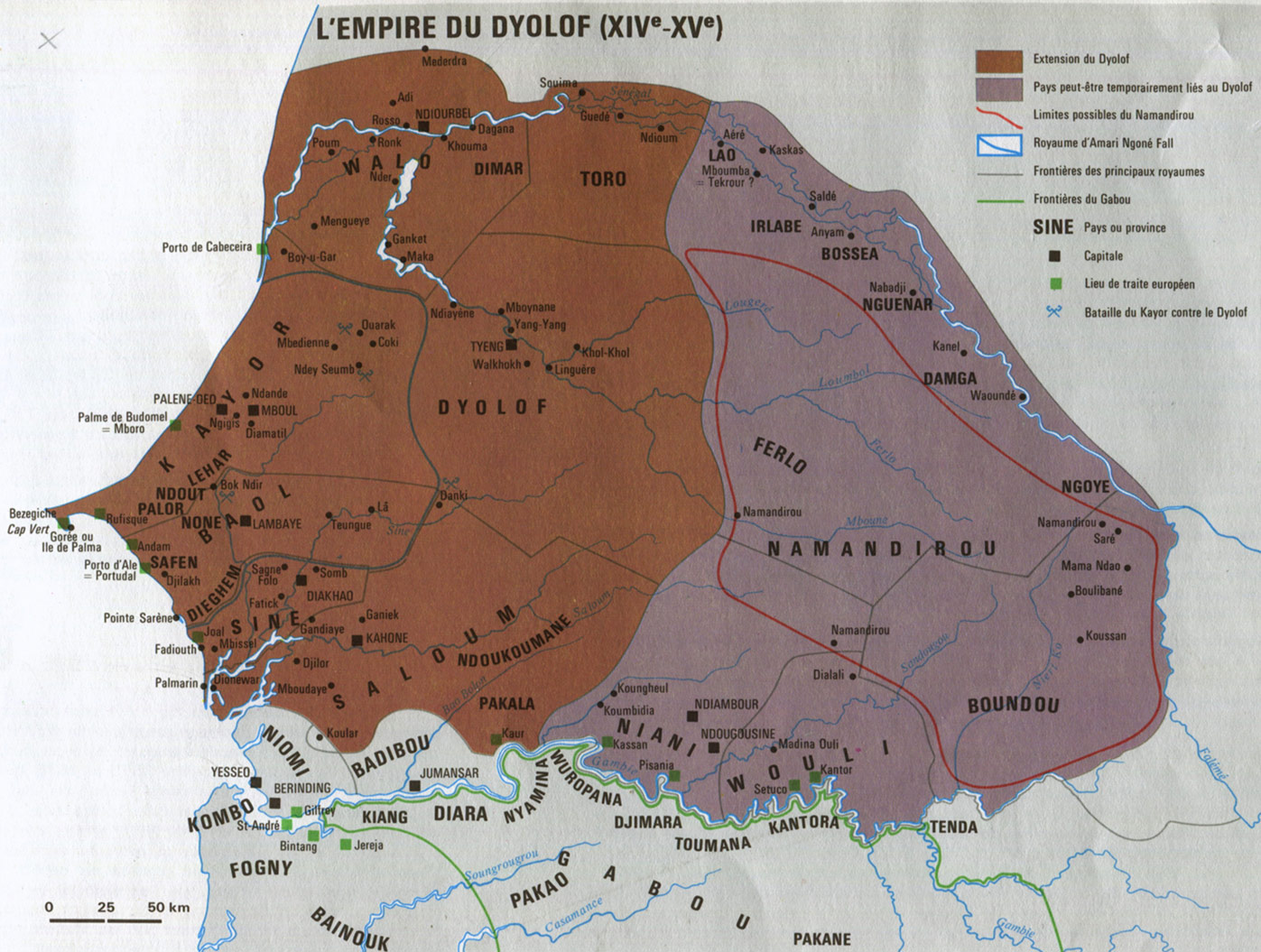 Fig. 7. Carte du Grand Jolof tiré de l'atlas national du Sénégal.