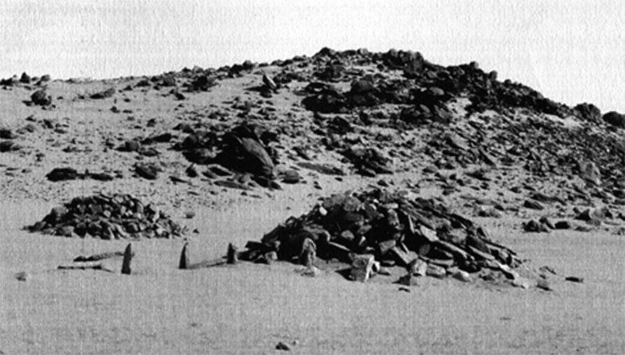 Fig. 3. Tumulus et monolithes néolithiques du site ABS V.