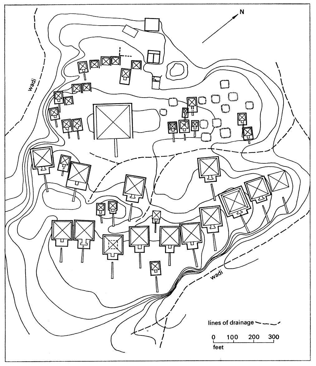 Fig. 5. Plan de la nécropole royale de Nuri. Adams 1977, fig. 43.
