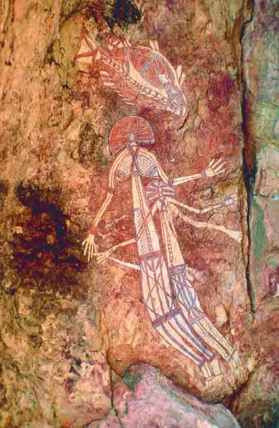 Fig. 14. Un art rupestre dont l'histoire reste à faire. Peinture rupestre de Kakadu. http://www.australia-australie.com/articles/kakadu-national-park-le-top-end-wet-ou-dry/