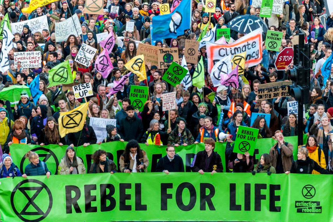 Les luttes du mouvement Extinction Rébellion