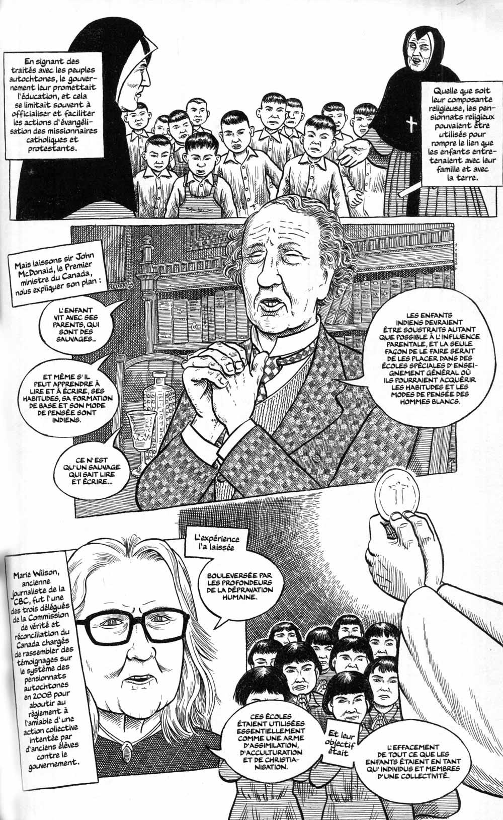 Fig. 7. Missionaires et pensionnats. © Sacco 2020.