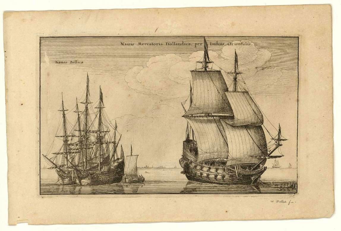 20. Navires marchands de la Compagnie des Indes orientales.