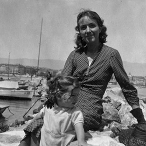 Evelyne Gallay- Baron et son fils à Genève