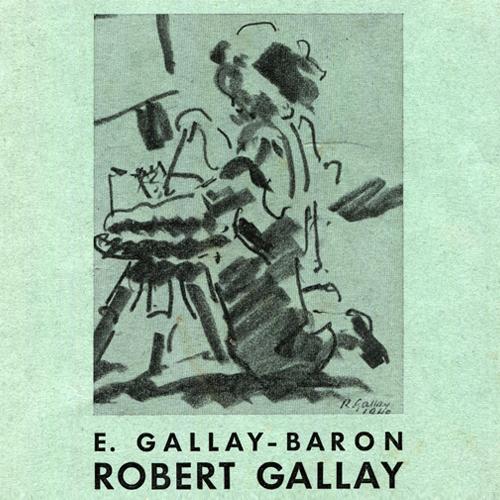 1941. Genève: Athénée, salle Crosnier, classe des Beaux Arts, exposition personnelle. A l'affiche, Alain Gallay s'initiant à la peinture.