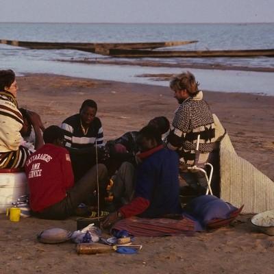 Réveil au bord du lac Débo