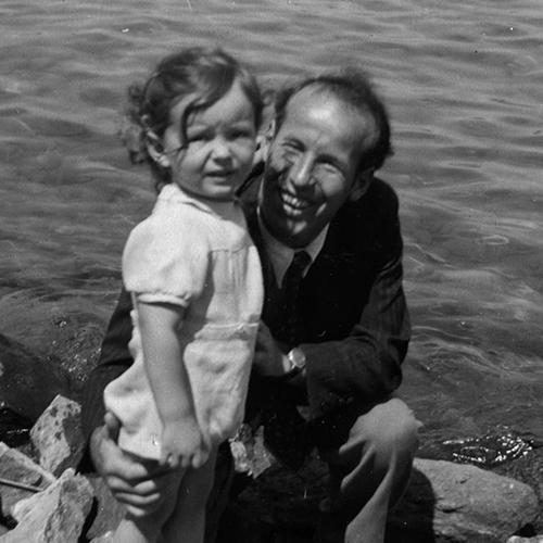 Robert Gallay et son fils à Genève