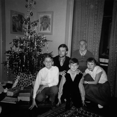 De gauche à droite : Christian Meyer, Alain Gallay, Jean Tarchini, Edouard Baron, Corinne Meyer