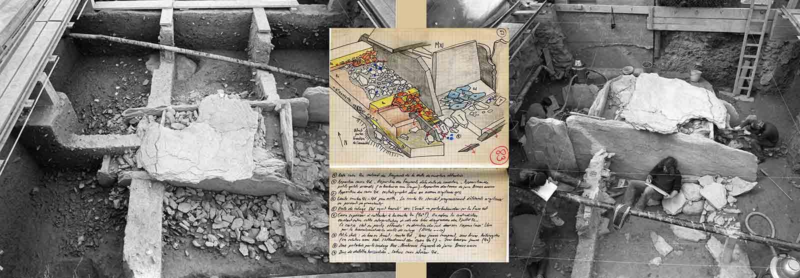 L'expérience des fouilles du Petit-Chasseur à Sion : le dégagement du dolmen MXI.